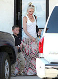 Gwen Stefani picked up Kingston Rossdale from school in LA.