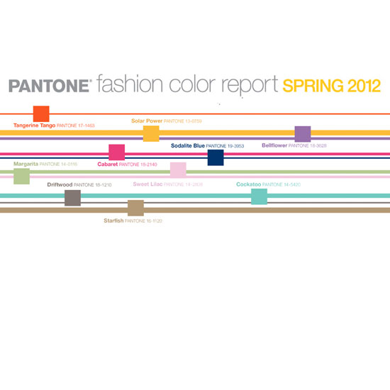 Pantone Spring 2012 Colors
