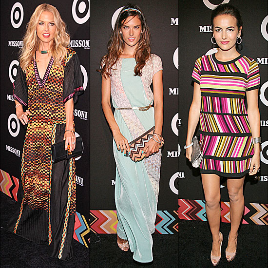 Celebs Glam Up For the Missoni For Target Collection Launch