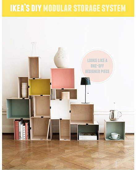 Hack Ikea modules into a chic storage system. So brilliant!