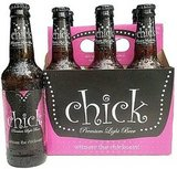 "This modern just-for-women beer is pink and prompts women to ""witness the chickness!'"