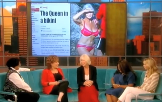 Modest Helen Mirren Talks About Her Body of the Year Award