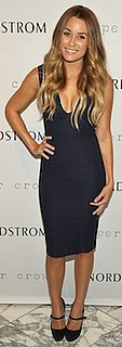 Lauren Conrad in Navy Paper Crown Dress