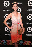 Nora Zehetner walking the red carpet at Missoni for Target.