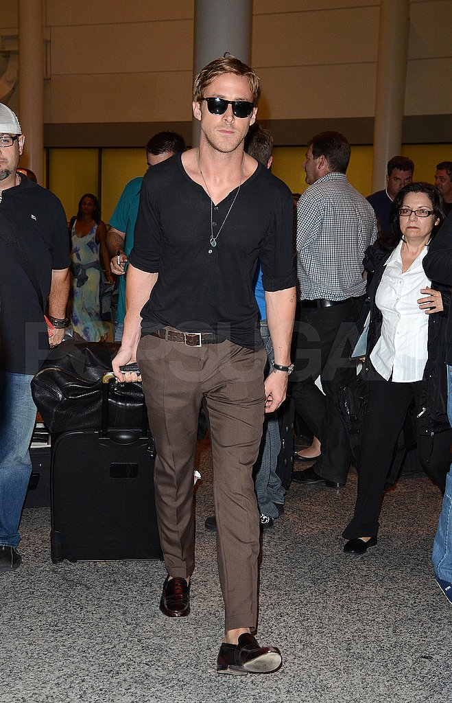 Ryan Gosling on his way to the Toronto Film Festival.