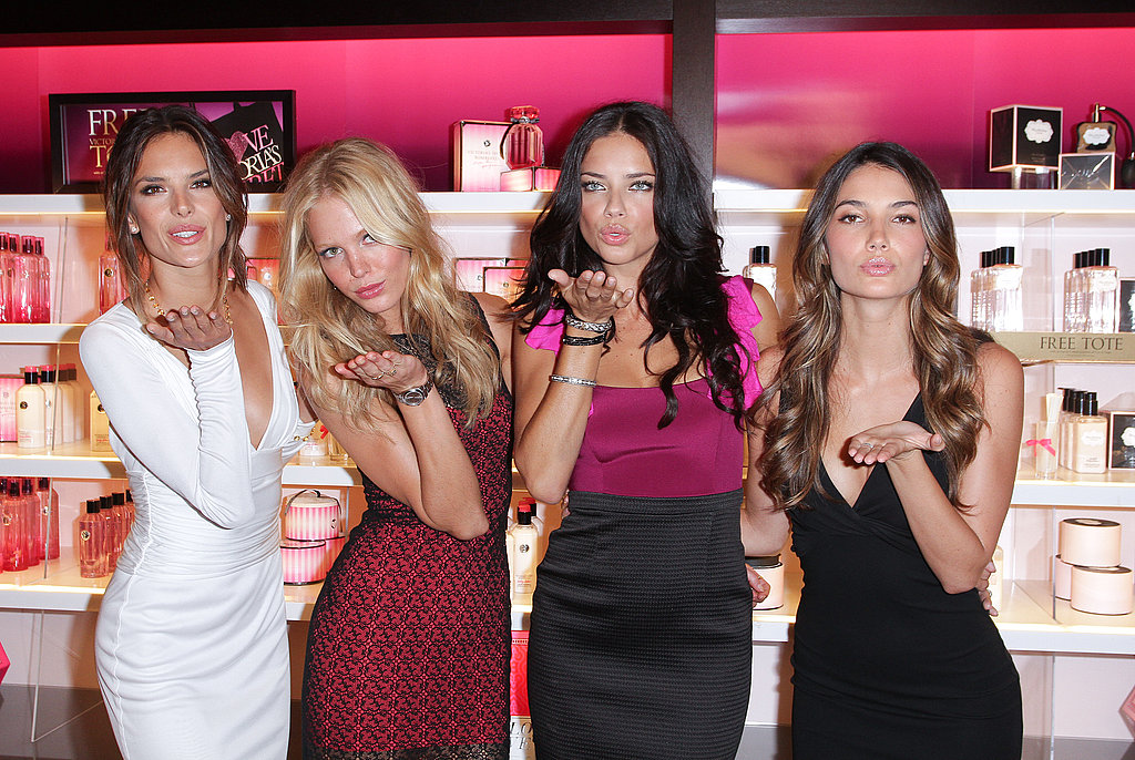 Adriana Lima, Alessandra Ambrosio, Lily Aldridge, and Erin Heatherton on FNO.