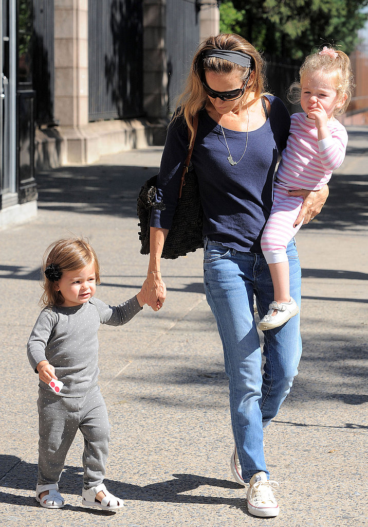 Sarah Jessica Parker with her daughters.