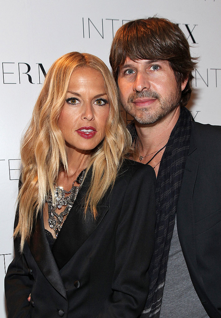 Rachel Zoe and Rodger Berman stayed close on Fashion's Night Out.