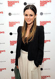 Rachel Bilson wore a metal headpiece.