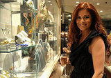 Debra Messing browsed the Fred Leighton jewels on Fashion's Night Out.