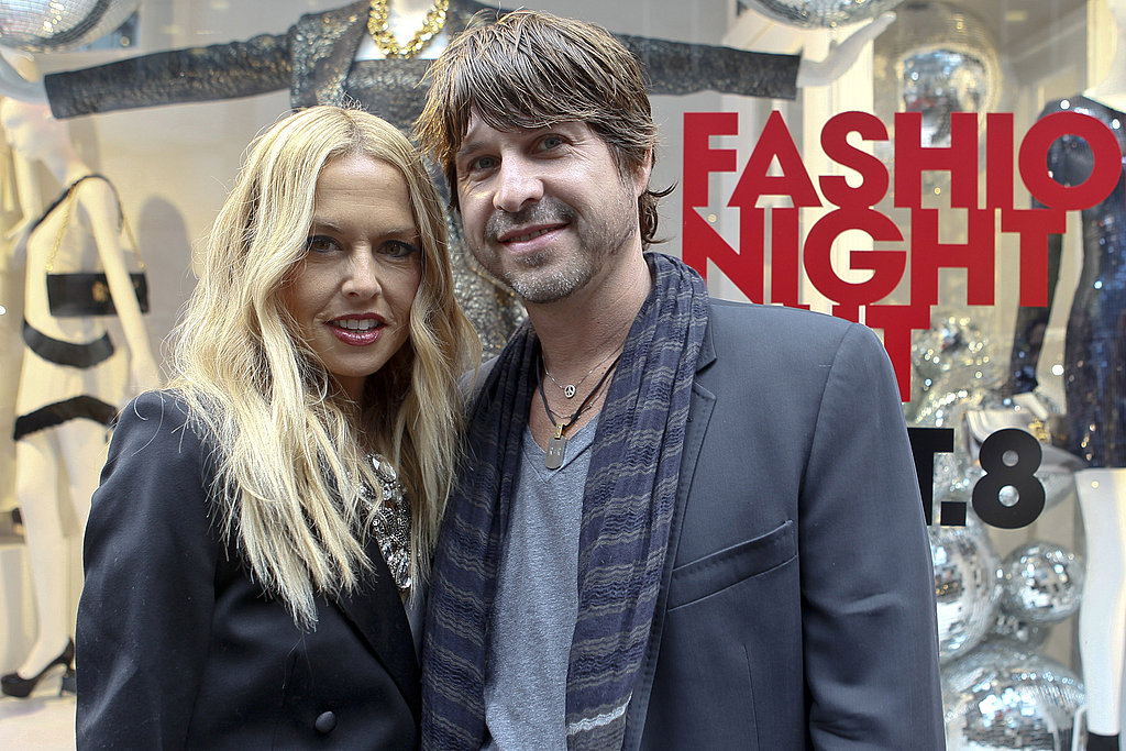Rodger Berman and Rachel Zoe made a romantic evening out of Fashion's Night Out.