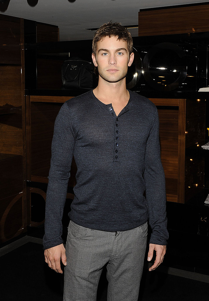 Chace Crawford at Fashion's Night Out.