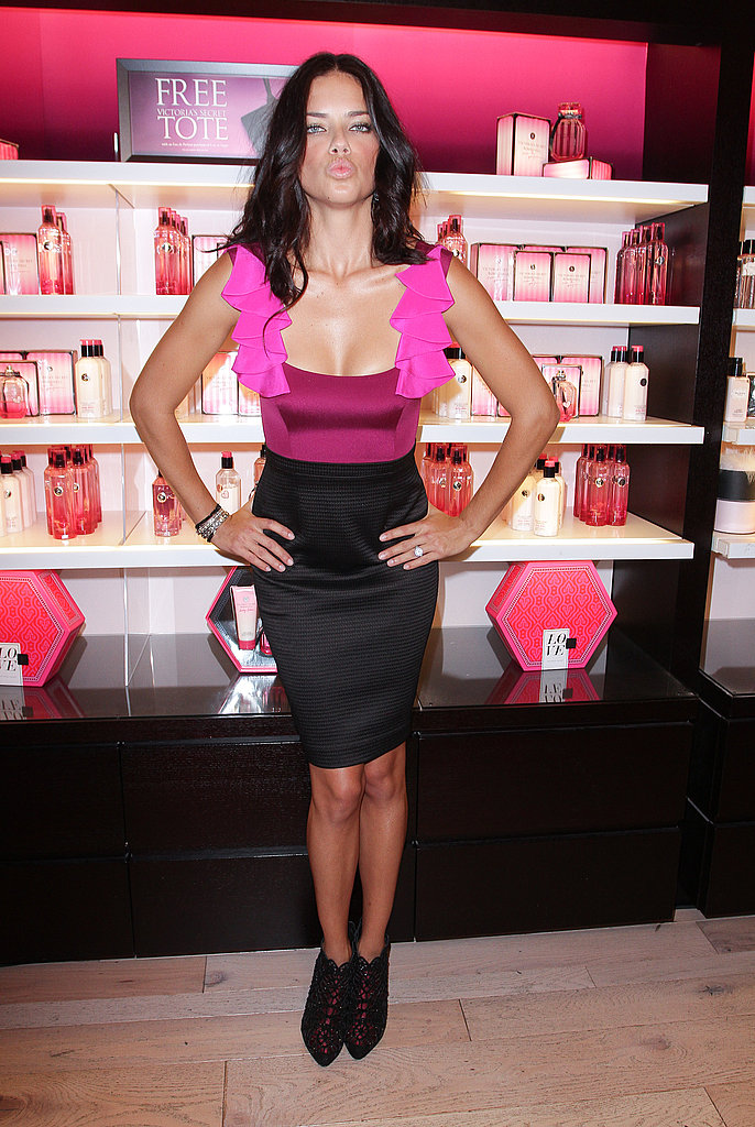 Adriana Lima on Fashion's Night Out.