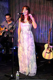 Leighton Meester sang for Fashion's Night Out.