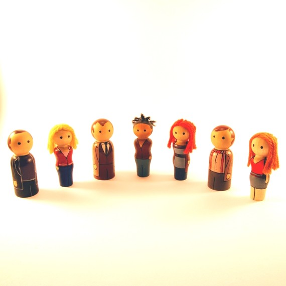 Doctor Who Peg People ($80)