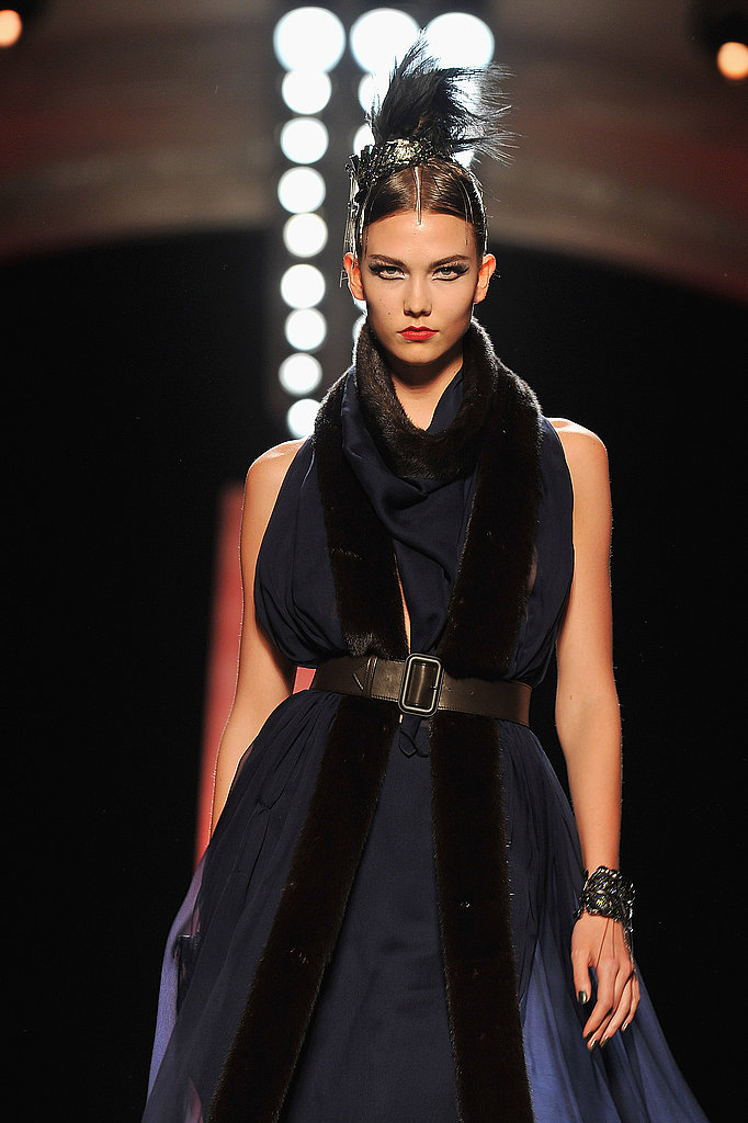 Karlie Kloss walks the Jean Paul Gaultier couture show.
