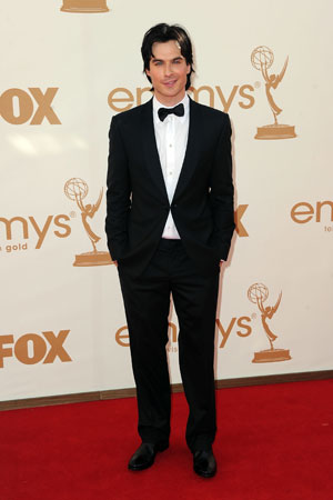 Vampire Diaries star Ian Somerhalder looked dapper in a black tux.