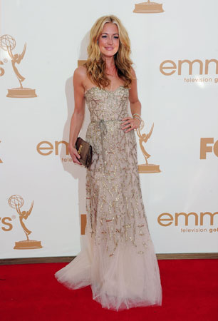 So You Think You Can Dance host Cat Deeley wore a strapless gown.