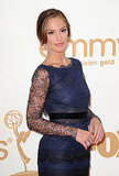 Emmys Presenter Minka Kelly Has a Lace Moment on the Red Carpet