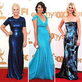 Celebrities Wearing Blue Dresses at the 2011 Emmys