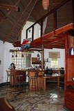 the thatched roof of the cottage I&#039;m subletting in Punta Chame, Panama