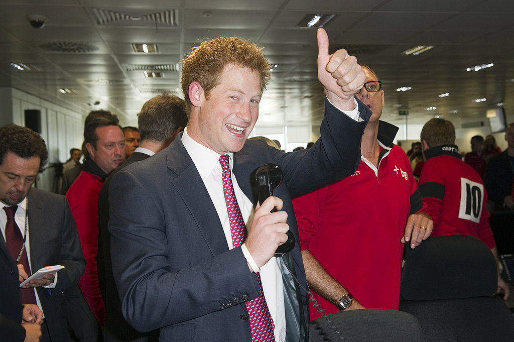 Prince Harry celebrated his record-breaking trade.