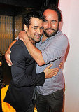 Dave Matthews and Colin Farrell at a vitaminwater party for Killer Joe.