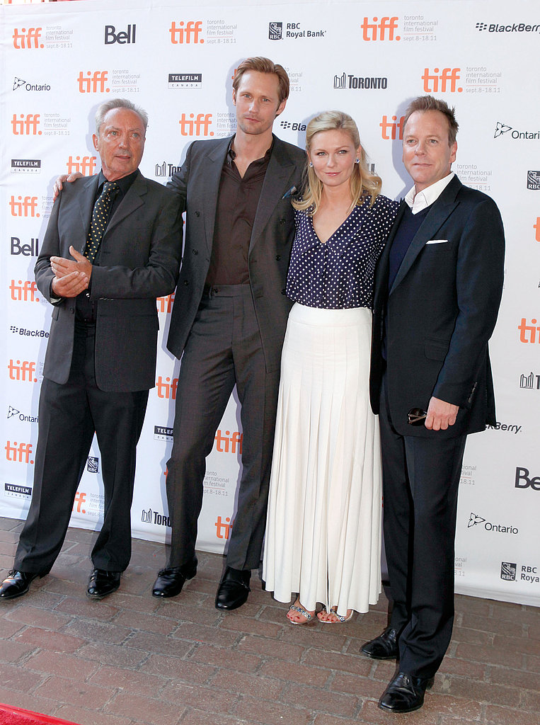 Kirsten Dunst and Alexander Skarsgard at the Melancholia premiere.