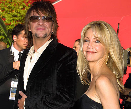 Heather Locklear and her then husband Richie Sambora wore matching black attire for the 2002 festivities.