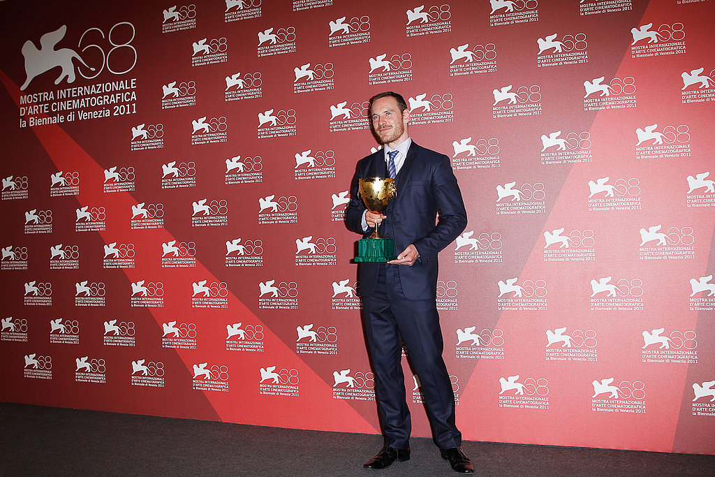 Michael Fassbender at the Venice Film Festival awards ceremony.