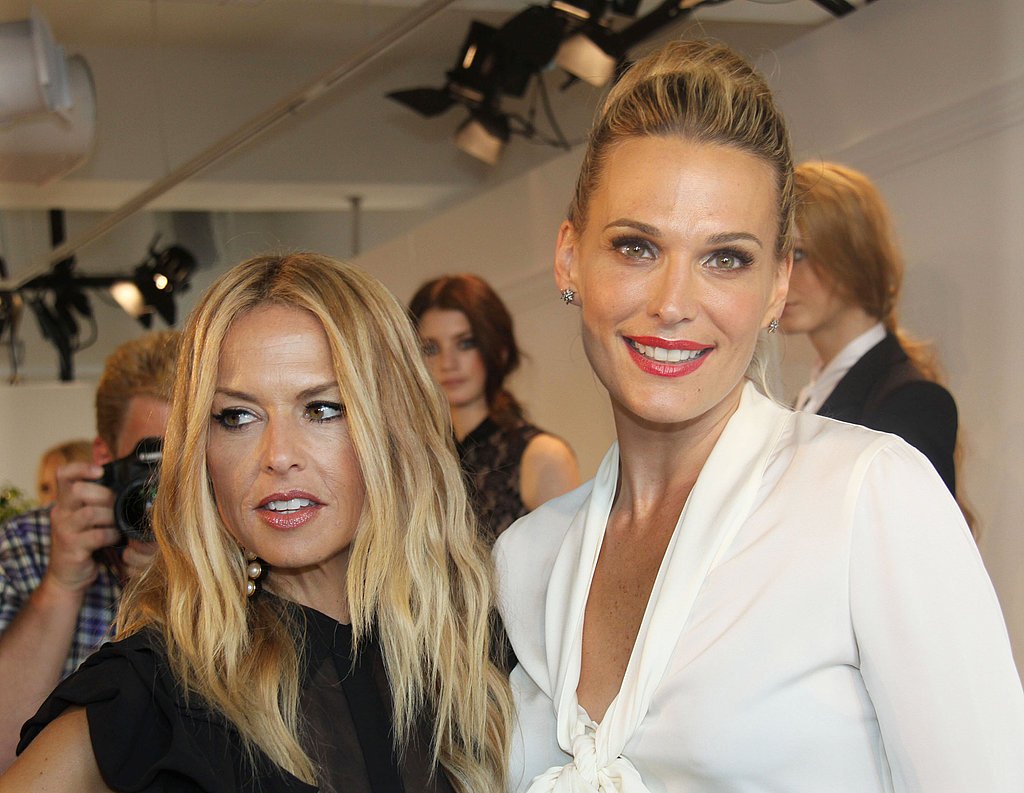 Molly Sims and Rachel Zoe at Rachel's presentation.