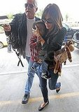 Sandra Bullock brought a monkey for baby Louis to play with.