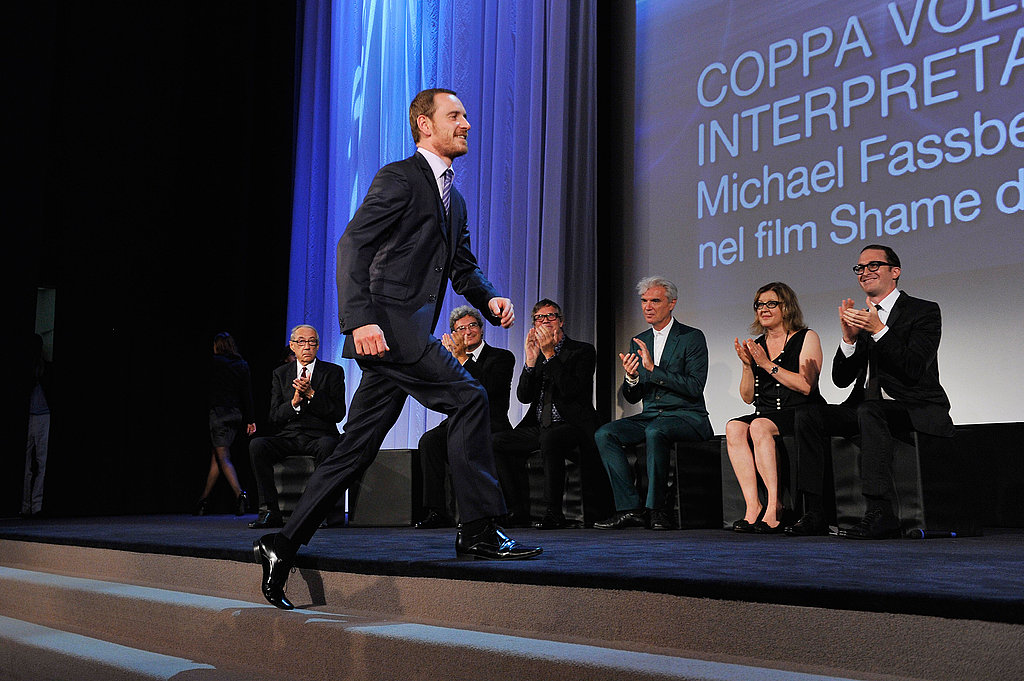 Michael Fassbender at the Venice Film Festival closing ceremony.