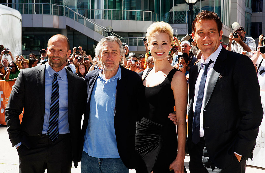 Jason Statham, Robert De Niro, Yvonne Strahovski, and Clive Owen arrive at Killer Elite premiere on Sept. 10 2011.