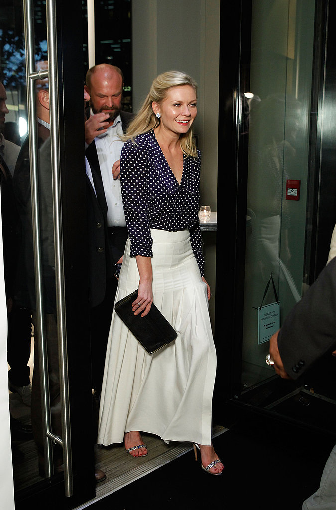 Kirsten Dunst on her way to the Melancholia premiere.