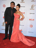 George Lopez and Eva Longoria pose together at the ALMA Awards.