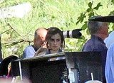 Penelope Cruz prepared to film a scene for Venuto Al Mondo.