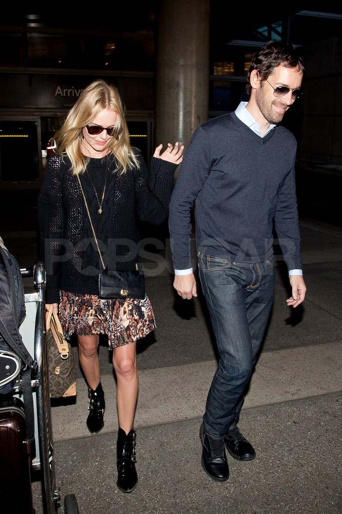 Kate Bosworth and Michael Polish at LAX.