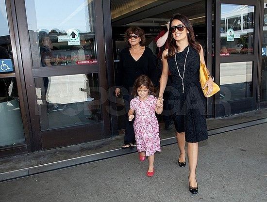 Salma and Valentina's departing flight out of Toronto arrived at LAX.
