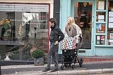 Kate Hudson and Matt Bellamy push son in their Missoni stroller.