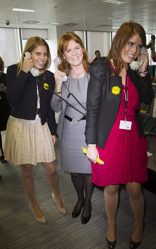 It was a busy morning for Princesses Beatrice and Eugenie.