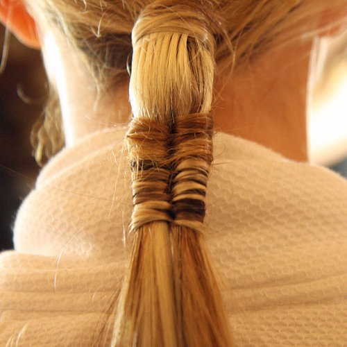 Marchesa Spring 2012: Backstage Fishtail Ponytail Picture