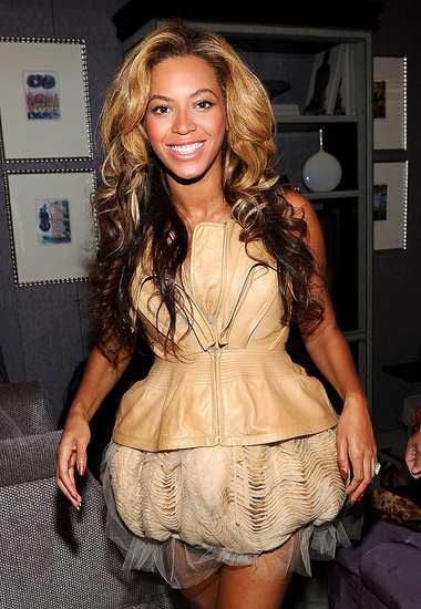 Beyoncé Knowles at NY Fashion Week.