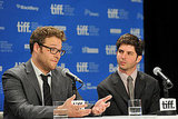 Seth Rogen and Jonathan Levine took questions about 50/50.