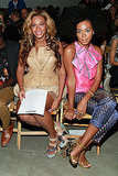 Beyoncé and Solange Knowles at NY Fashion Week.