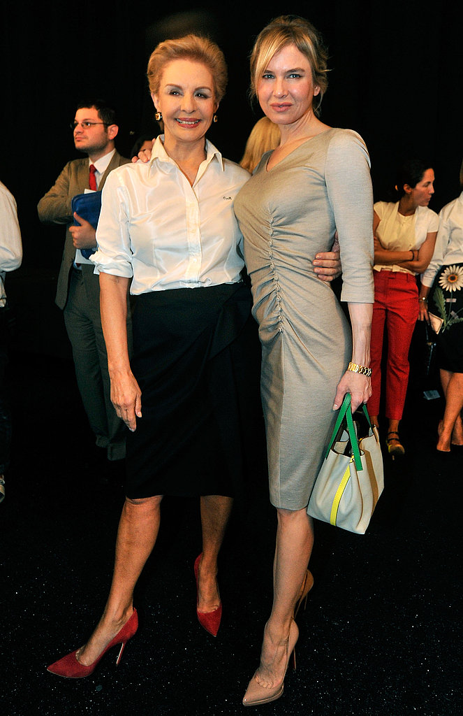 Renée Zellweger with Carolina Herrera during fashion week.