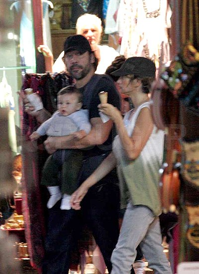 Penelope Cruz and Javier Bardem went for ice cream with baby Leo.