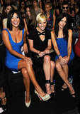 Jessica Szohr, Ashlee Simpson, and Katie Cassidy sat front row at Herve Leger.