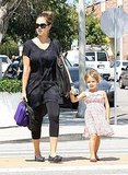 Jessica Alba and Honor cross the street in LA.