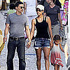 Halle Berry & Nahla With Olivier Martinez in Spain Pictures